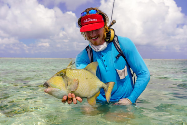 Austin with a nice titan triggerfish